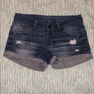 🍭BUNDLE: Mango Denim short shorts size 4